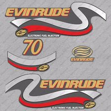 Evinrude 70 Hp Four Stroke outboard engine decals sticker set reproduction 70HP