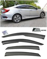EOS Visors For 16-Up Honda Civic Sedan FC1 JDM MUGEN Side Window Rain Deflectors