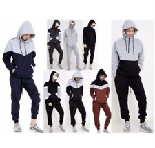 Mens Ladies Full Tracksuit Set Fleece HoodieTop Bottoms Jogging Joggers trouser