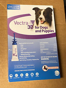 Vectra 3D for Dogs and Puppies 21-55 LBS ~ 6 doses