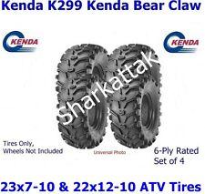 TWO (2) 23x7-10 & TWO (2) 22x12-10 Kenda Bear Claw K299 ATV Tires