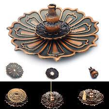 9 Holes Lotus Flower Incense Burner Holder Plate w/ Magnet For Sticks Cone Coil