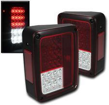 2007-2014 JEEP WRANGLER LED ALTEZZA REAR TAIL BRAKE LIGHTS LAMPS RED/CLEAR 12 13