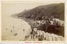 France, Granville, les bains de mer, vue animée    Vintage albumen print Tir