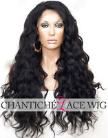 "6"" Deep Parting Full Lace Wig Brazilian Remy 7A Human Hair Lace Front Wigs 250%"