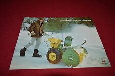 John Deere Snow Blowers For 1973 Dealer Brochure DCPA3