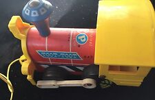 Vintage 1964 Mc Fisher Price Toot Toot Train Pull Toy 643