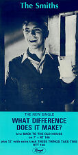 THE SMITHS WHAT DIFFERENCE DOES IT MAKE  LAMINATED A4 MINI POSTER MORRISEY