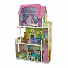 Ivy/'s Muñeca Casa De Madera Casa De Muñecas Muebles Juego Kit Niños Muñecas Rosa Navidad Nuevo