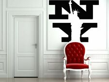 Wall Vinyl Sticker Decal Skyline Horizon Panorama City New York US Liberty F1722