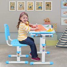 Ergonomic Adjustable Children's Desk and Comfortable Chair Set Specially