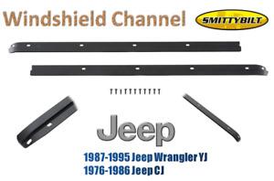 Smittybilt Windshield Channel For 76-86 Jeep CJ5 CJ7 / 87-95 Wrangler YJ 90101