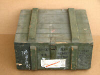 Vintage Wooden Ammunition Military Crate Case Storage Ammo Box East Europe
