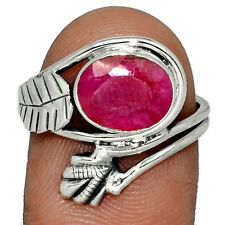 Ruby 925 Sterling Silver Ring Jewelry s.8.5 AR133851 190A