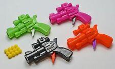 6 Kugelpistolen 6,5 cm verschiedene Farben Mitgebsel Kindergeburtstag Neu