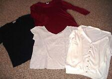 4-teil.gepflegtes Bekleidungspaket,Gr.38/40/42?,Strickjacke,Pullover,2 Shirts