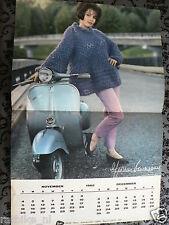 VESPA SCOOTER CALENDAR KALENDER 1962 NOVEMBER/DECEMBER IN COLOUR PIN-UP GIRL P88
