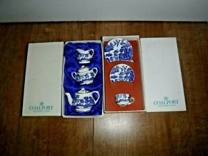 Coalport 'Willow' Miniature Tea Set and Trio ~ With Original Boxes ~ Excellent