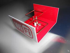 2.4 GHz 16dBi WiFi booster dish feed long range  Biquad Antenna