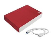 "Seagate Backup Plus Portable USB 3.0 Enclosure 2.5"" 15mm Hard Drive Case Red"