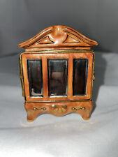 Limoges Trinket Box France Wardrobe Armoire Peint Main Rare books cabinet Mirror