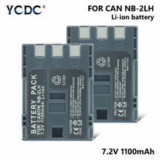 2X Battery NB-2LH NB 2LH For Canon Elura 40 MC 50 60 70 80 85 90 EOS 350D 400D