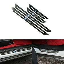 4x VOLKSWAGEN Carbon Fiber Car Door Welcome Plate Sill Scuff Cover Panel Sticker