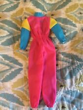 1980's Retro Barbie Snow Suit in bright pink with blue and yellow!