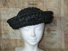 """Antique Rafia Straw Hat / Cloche Hat / Vintage Chapeaux Hat orig by """"DAYNE"""""""