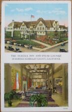 Eureka, CA 1920 Postcard: Inn & Palm Lounge - Humboldt County, California Cal