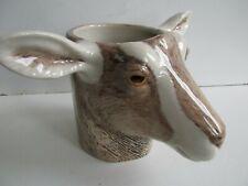 More details for quail ceramics goat  desk tidy pencil /pen / brush holder  pot new &boxed