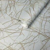 Vinyl Wallpaper gray silver metallic gold Faux Grasscloth plaster textured rolls