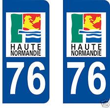 stickers autocollants plaques immatriculation auto Département Seine Maritime 76