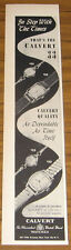 1949 Vintage Ad Calvert Wrist Watches Watch Fifth Avenue New York