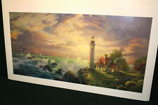 Thomas Kinkade The Guiding Light 18x36 Standard Number Unframed Paper