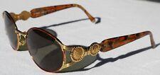 Vintage FENDI Italy Ladies Gold & Tortoiseshell Sunglasses - FS 261