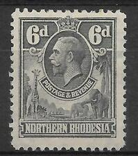 N.RHODESIA, KGV 1925 ISSUE,  6d  SG 7  M/MINT, CAT £8.50