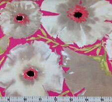 FreeSpirit PAINTED GARDEN - AZALEA (PINK) 100% Cotton Quilt Fabric - per 1/2 yd