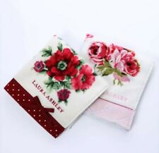 Lot of 2 Laura Ashley Embroidery Color printed Hand Towel Red N Pink