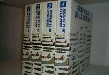 GRAN ATLAS DE LA AVIACION (4 TOMOS) COLECCION COMPLETA - SARPE 1985 -
