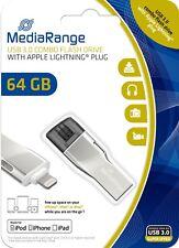 MediaRange USB 3.0 Speicher Stick 64GB Apple Lightning Speichererweiterung