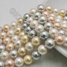 Perle Di Madreperla multicolor rotondo 8 mm 49 pz per tuoi gioielli