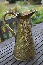 JOSEPH SANKEY brass crocodile effect ewer water jug No.4 Arts & Crafts antique