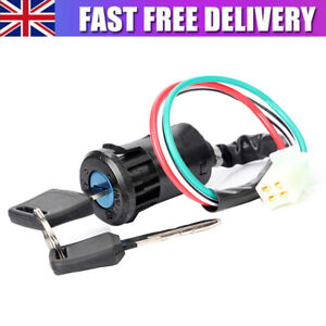 4 Wire Universal Motorcycle Ignition Switch Barrel Quad ATV On Off Switch Key
