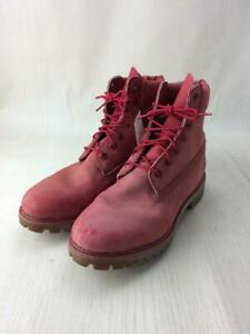 Timberland Lace-Up Us9  Red Size US9 Fashion Boots 8119 From Japan