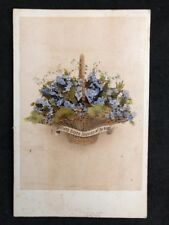 Victorian Cabinet Card: Colour Tinted Happy Returns Of The Day: Lurks London
