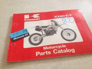 Kawasaki Piezas List KX80-E/F KX80 E1 F1 KX 80 Catálogo Lista Pieza Suelta