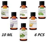 Essential Oil Gift Set Kit 6 - 10ml 100% Pure Therapeutic Grade Bulk Lot