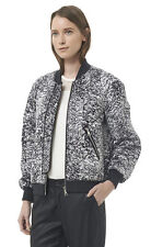 Rebecca Taylor Black White Noise Quilted Silk Flight Jacket $595 NWT 6