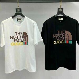 The North Face Men's Logo Short Sleeve T-shirt Cotton Couple Round Neck Top AU